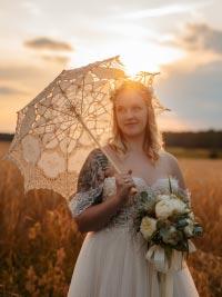 Brautpaarshooting Sonnenunterngang