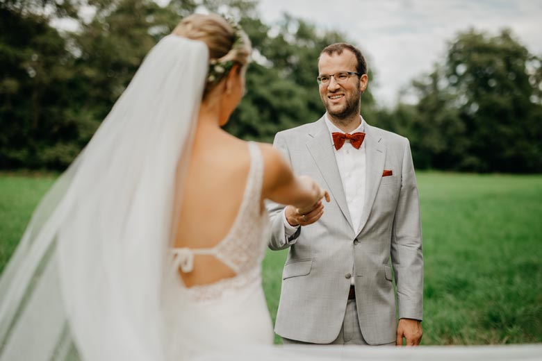 Brautpaarshooting im Freien