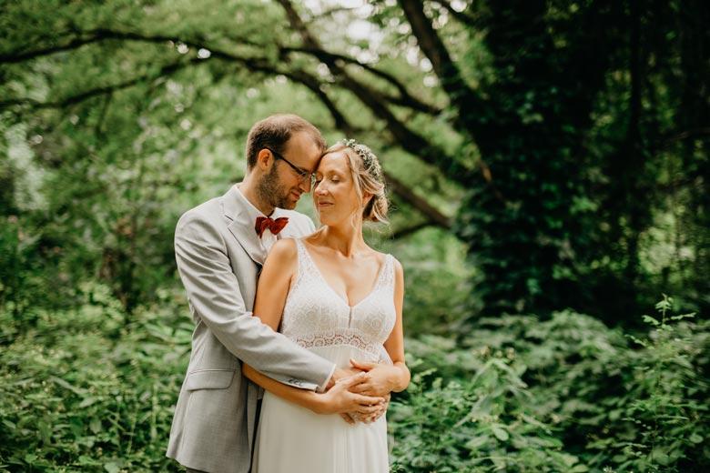 Brautpaar Fotoshooting im Freien