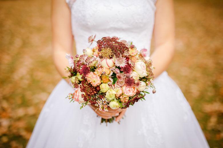 Heiraten im Herbst Brautstrauß