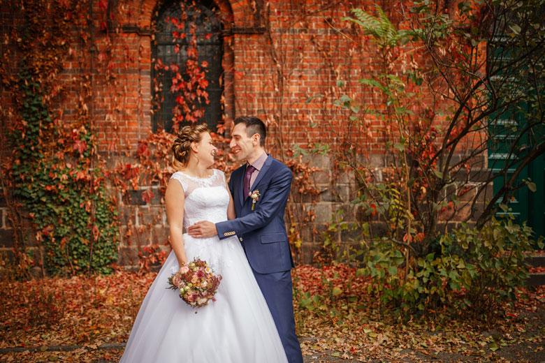 Heiraten im Herbst verliebt