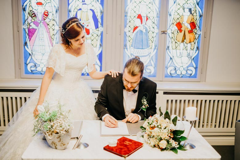 Heiraten in Köpenick Unterschrift