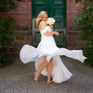 Hochzeitsbilder mit weissem Kleid