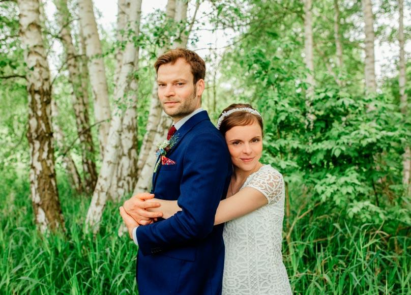 Hochzeitsfotograf Berlin in der Natur