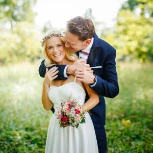 Hochzeitsfotograf glueckliches Brautpaar