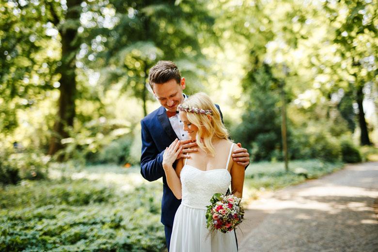 Hochzeitsfotos auf der Schlossinsel Berlin Köpenick Ring