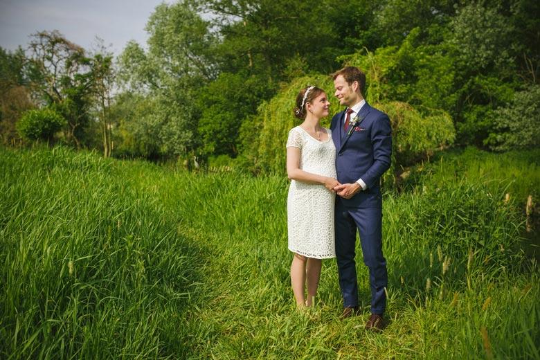 Hochzeitsfotos im Grünen outdoor