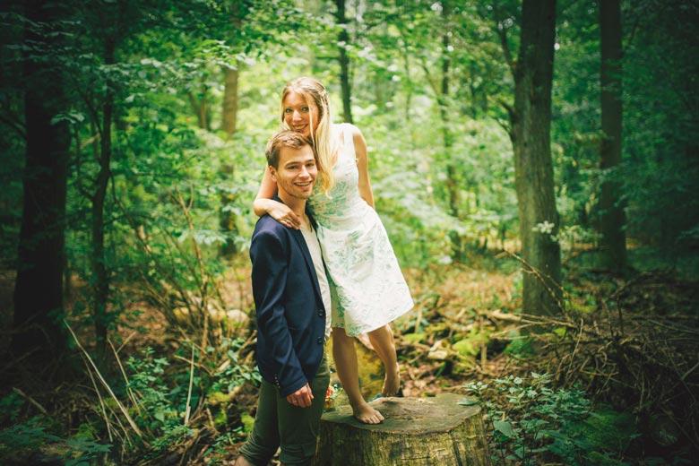 Paarfotos in Friedrichshagen im Wald