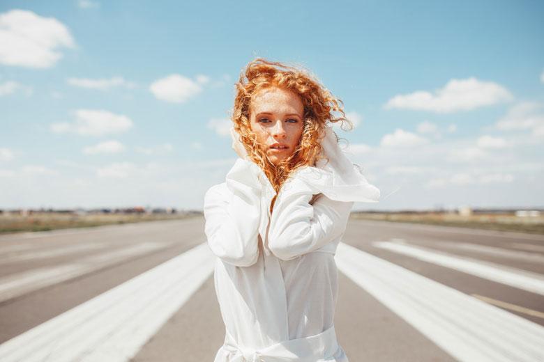 Portraitshooting mit Lena in Berlin am Flughafen