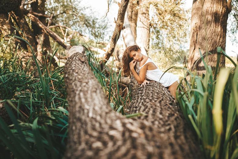 Portraitshooting mit Dia in Köpenick natur